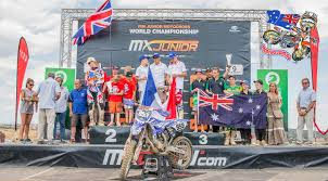 junior motocross racing dual podiums for australia in spain at fim junior world motocross
