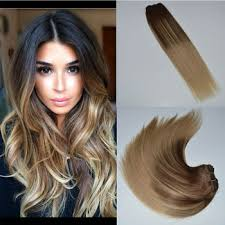 balayage hair extensions brown mix ombre color balayage hair