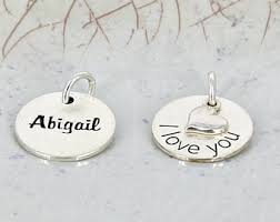 engravable charms engraved charms etsy