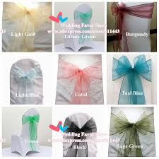 chair bows fancy coral organza chair sashes wedding self tie chair bows