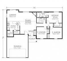 Two Bedroom House Floor Plans Home Design 81 Amazing Single Story House Planss