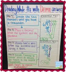 dividing decimals anchor charts dividing decimals decimal and