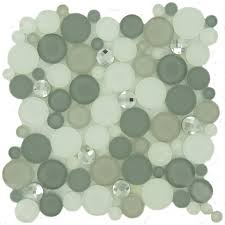 Grey Glass Backsplash by Circles Grey Glass Penny Circles Tile Glossy Frosted Sbs1511