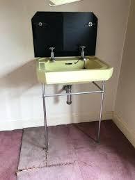 kerasan retro 339 pedestal sink bathroom with overflowantique gold