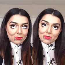 ventriloquist doll makeup look halloween makeup tutorial youtube