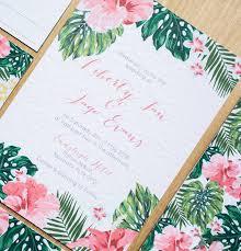 tropical wedding invitations beyond the aisle paper tropical wedding and party invitations