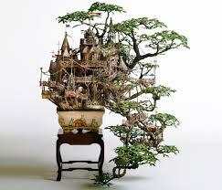 takanori aiba s amazing bonsai tree castles are miniature living