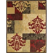 Brown And Beige Area Rug Area Rugs For Kitchen Living Room Use U0026 Outdoor Doormats