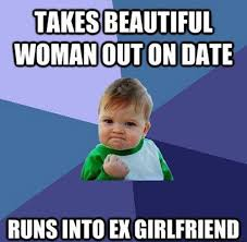 Funny Ex Girlfriend Memes - funny success kid meme takes beautiful woman date runs ex