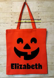personalized trick or treat bag halloween tote bag halloween