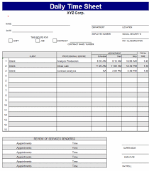 free daily timesheet template 100 images time sheet templates