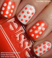 nail art alternating polka dots u2013 the daily varnish
