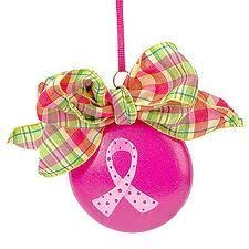 breast cancer awareness christmas ornaments breast cancer