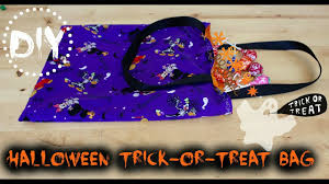 diy halloween trick or treat bag sew in 30 minutes youtube