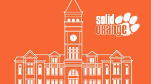Clemson Flags Clemson University Solid Orange