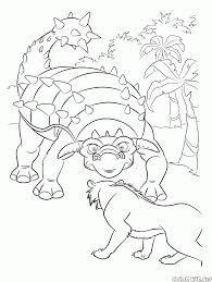 coloring page dinosaur and diego