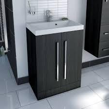 Slimline Vanity Units Bathroom Furniture Bathroom Sink White Vanity Unit With Solid Oak Top Aspenn