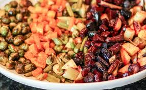 colorful platter of roasted autumn vegetables italian