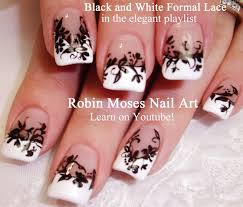 32 lace nail design floral lace prom nail art design youtube