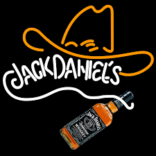 Jack Daniels Curtains Rare Jack Daniels Whiskey Cowboy Hat Neon Sign Neon Signs