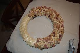 wine cork wreath u2013 work in progress guinness u0027 backyard