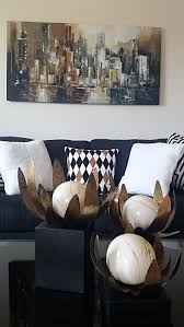 Black White And Gold Living Room by My Creative Designs
