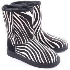ugg zebra boots sale ugg australia polyvore