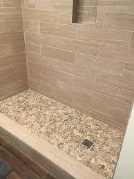 bathroom shower floor ideas sliced java pebble tile pebble tile shower pebble tiles and