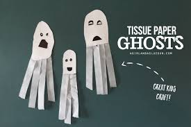 tissue paper ghosts great kids craft a and a glue gun