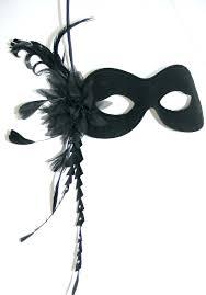 mask with feathers black swarovski burlesque style feather mask