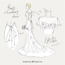 bride wedding dress sketch vector premium download