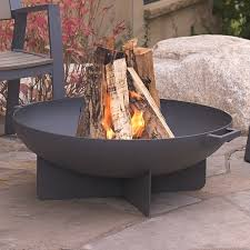 Wood Firepits Real Anson Steel Wood Burning Pit Reviews Wayfair