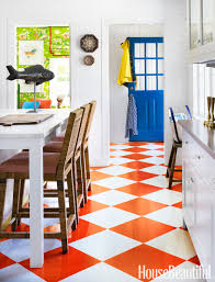 best orange color code inside a home that u0027s not afraid of bold color kitchens