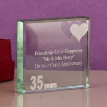 35th wedding anniversary gifts coral 35th wedding anniversary gifts the gift experience