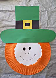 paper plate leprechaun craft for kids paper plate art plate art