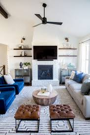 Living Room Furniture Arrangement With Fireplace Charming Blue As Accents For Living Room Ideas With Fireplace And