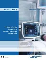 hamilton c2 ventilator user manual monitoring medicine