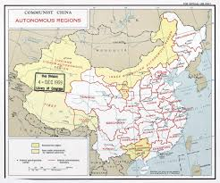 Detailed Map Of China by Large Detailed Autonomous Regions Map Of Communist China 1959