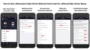 retroactive uber referral invite code missed driver bonus up to 1 200