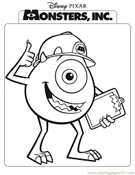 coloring page monsters inc monsters inc coloring page 03 coloring page free monsters inc