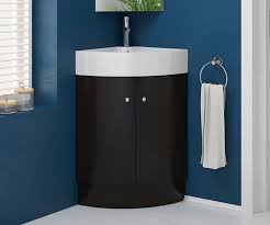 Basin And Toilet Vanity Unit Rivera Black 470 Freestanding Corner Vanity Unit With Sink