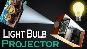 how to make light bulb smart phone projector at home easy diy