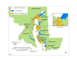 Md Map Map No 4 Of Striped Bass Regulations