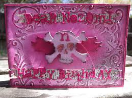 halloween birthday card ymcg studio halloween u0026 skull birthday cards