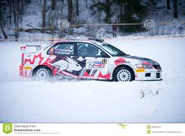 mitsubishi rally car mitsubishi lancer evo ix rally car editorial image image 49988300