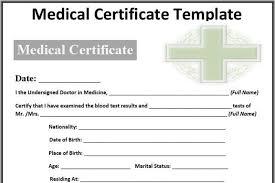 medical certificate sample download free u0026 premium templates