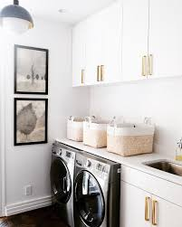 white flat front laundry room cabinets design ideas