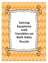 solving equations with variables on both sides puzzle 8 ee c 7