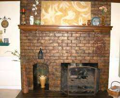 fireplace brown painted brick fireplace painted paint brick