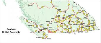 Canada On Map by Bc Map Canada Map Holiday Travel Holidaymapq Com